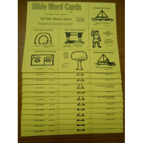 Bible Word Cards (KJV) 12/pk