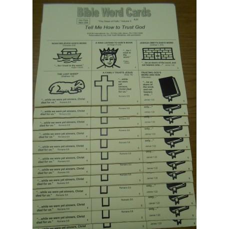 Bible Word Cards (KJV), 12/pk
