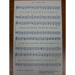 Sheet music: Put Jesus First