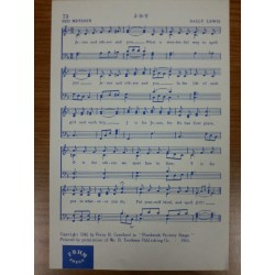 Sheet music:  J-O-Y (Jesus, Others and You)