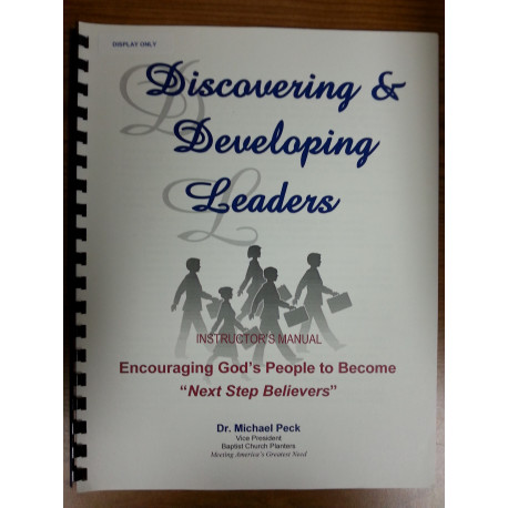 Discovering and Developing Leaders - Instructor's Manual - English DOWNLOAD version